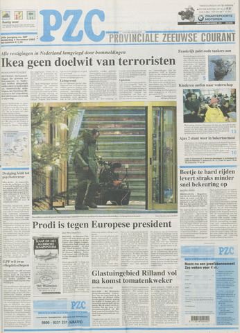 Provinciale Zeeuwse Courant 2002-12-05