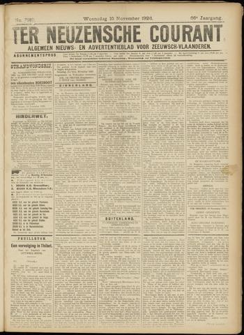 Ter Neuzensche Courant. Algemeen Nieuws- en Advertentieblad voor Zeeuwsch-Vlaanderen / Neuzensche Courant ... (idem) / (Algemeen) nieuws en advertentieblad voor Zeeuwsch-Vlaanderen 1926-11-10