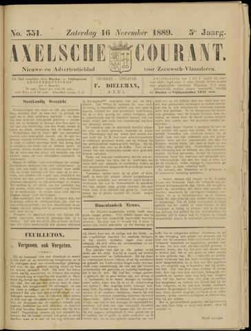 Axelsche Courant 1889-11-16