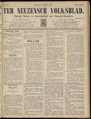 Ter Neuzensch Volksblad. Vrijzinnig nieuws- en advertentieblad voor Zeeuwsch- Vlaanderen / Zeeuwsch Nieuwsblad. Nieuws- en advertentieblad voor Zeeland 1911-08-12