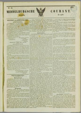 Middelburgsche Courant 1847-04-24