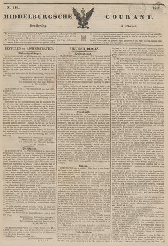Middelburgsche Courant 1843-10-05