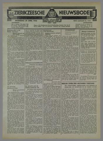 Zierikzeesche Nieuwsbode 1942-04-29