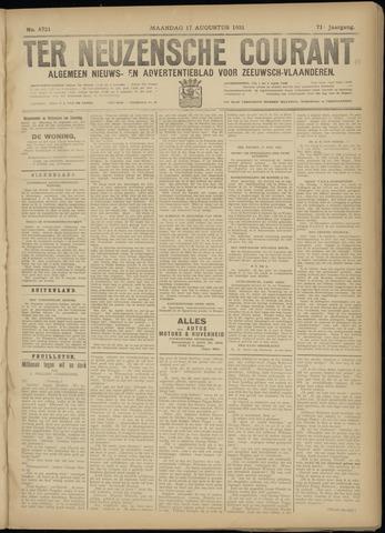 Ter Neuzensche Courant. Algemeen Nieuws- en Advertentieblad voor Zeeuwsch-Vlaanderen / Neuzensche Courant ... (idem) / (Algemeen) nieuws en advertentieblad voor Zeeuwsch-Vlaanderen 1931-08-17