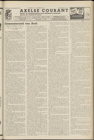 Axelsche Courant 1958-08-02