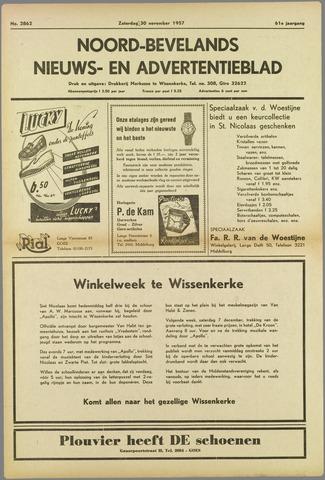 Noord-Bevelands Nieuws- en advertentieblad 1957-11-30