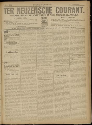 Ter Neuzensche Courant. Algemeen Nieuws- en Advertentieblad voor Zeeuwsch-Vlaanderen / Neuzensche Courant ... (idem) / (Algemeen) nieuws en advertentieblad voor Zeeuwsch-Vlaanderen 1917-03-27
