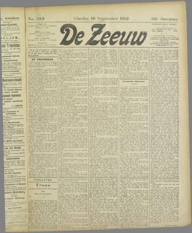 De Zeeuw. Christelijk-historisch nieuwsblad voor Zeeland 1919-09-16