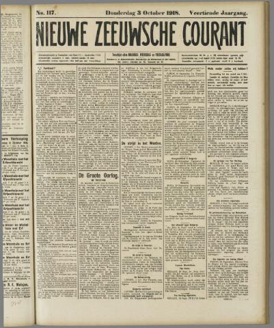 Nieuwe Zeeuwsche Courant 1918-10-03