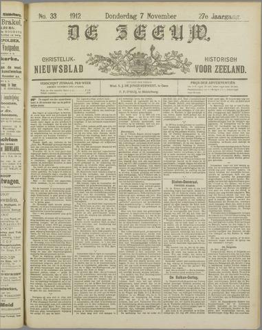 De Zeeuw. Christelijk-historisch nieuwsblad voor Zeeland 1912-11-07