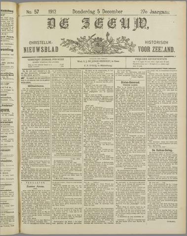 De Zeeuw. Christelijk-historisch nieuwsblad voor Zeeland 1912-12-05