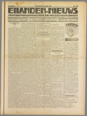 Eilanden-nieuws. Christelijk streekblad op gereformeerde grondslag 1936-07-22