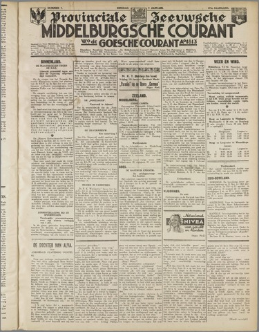 Middelburgsche Courant 1934-01-09
