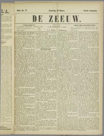 De Zeeuw. Christelijk-historisch nieuwsblad voor Zeeland 1890-03-29