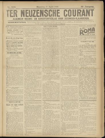 Ter Neuzensche Courant. Algemeen Nieuws- en Advertentieblad voor Zeeuwsch-Vlaanderen / Neuzensche Courant ... (idem) / (Algemeen) nieuws en advertentieblad voor Zeeuwsch-Vlaanderen 1928-04-16