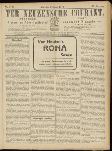 Ter Neuzensche Courant. Algemeen Nieuws- en Advertentieblad voor Zeeuwsch-Vlaanderen / Neuzensche Courant ... (idem) / (Algemeen) nieuws en advertentieblad voor Zeeuwsch-Vlaanderen 1912-03-02