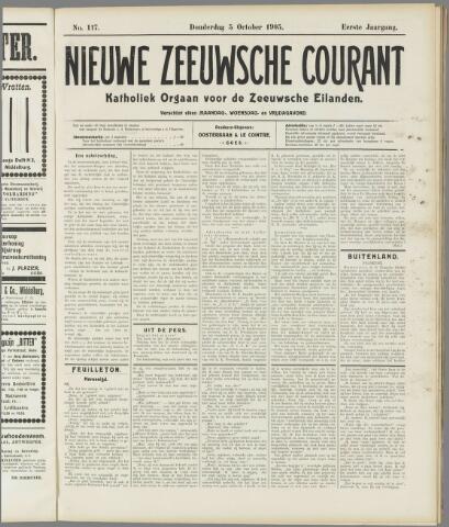 Nieuwe Zeeuwsche Courant 1905-10-05