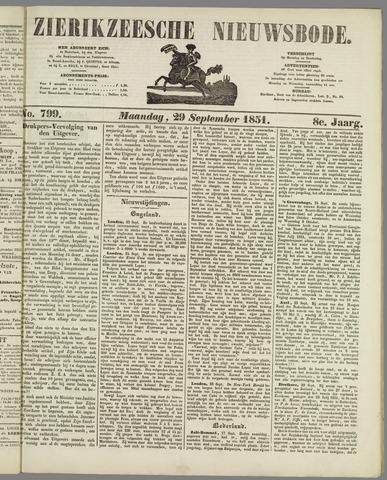 Zierikzeesche Nieuwsbode 1851-09-29