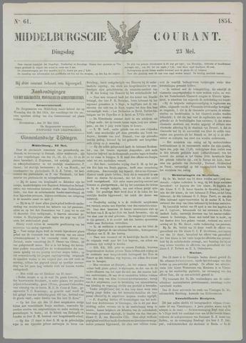 Middelburgsche Courant 1854-05-23