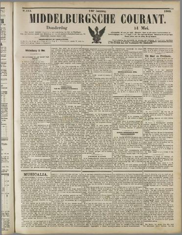 Middelburgsche Courant 1903-05-14