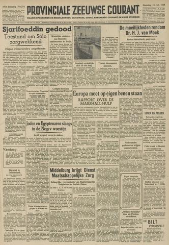 Provinciale Zeeuwse Courant 1948-10-18