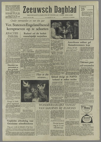 Zeeuwsch Dagblad 1958-08-23