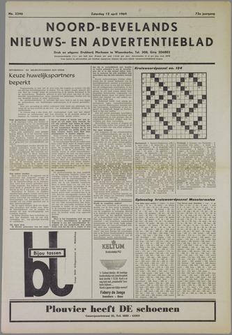 Noord-Bevelands Nieuws- en advertentieblad 1969-04-12