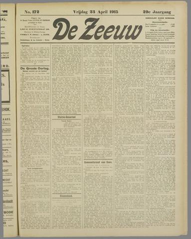 De Zeeuw. Christelijk-historisch nieuwsblad voor Zeeland 1915-04-23