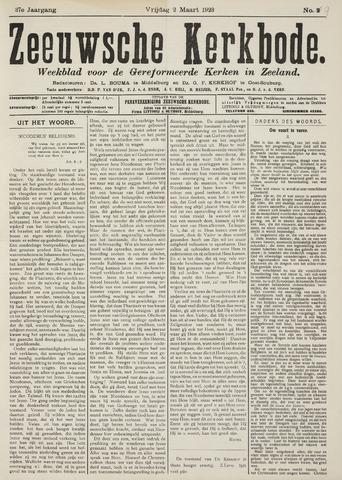 Zeeuwsche kerkbode, weekblad gewijd aan de belangen der gereformeerde kerken/ Zeeuwsch kerkblad 1923-03-02