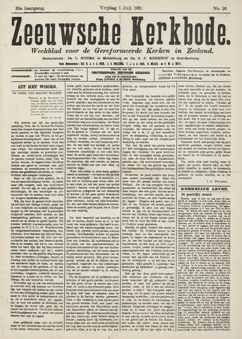 Zeeuwsche kerkbode, weekblad gewijd aan de belangen der gereformeerde kerken/ Zeeuwsch kerkblad 1921-07-01