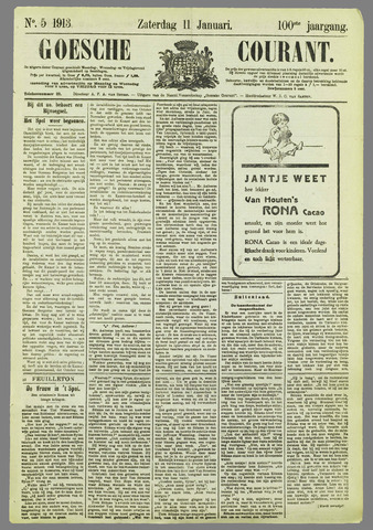 Goessche Courant 1913-01-11
