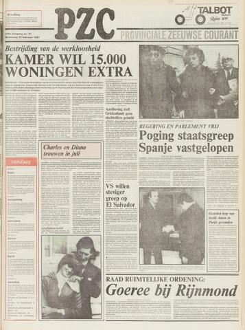 Provinciale Zeeuwse Courant 1981-02-25
