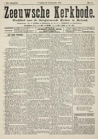 Zeeuwsche kerkbode, weekblad gewijd aan de belangen der gereformeerde kerken/ Zeeuwsch kerkblad 1921-12-23