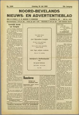 Noord-Bevelands Nieuws- en advertentieblad 1950-07-29