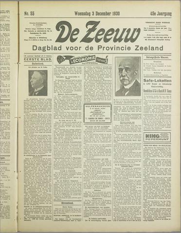 De Zeeuw. Christelijk-historisch nieuwsblad voor Zeeland 1930-12-03