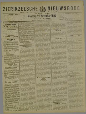 Zierikzeesche Nieuwsbode 1916-11-20