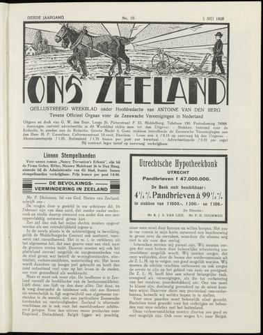 Ons Zeeland / Zeeuwsche editie 1928-05-05