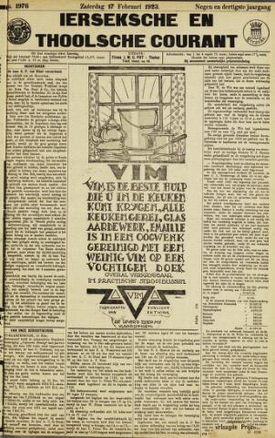 Ierseksche en Thoolsche Courant 1923-02-17