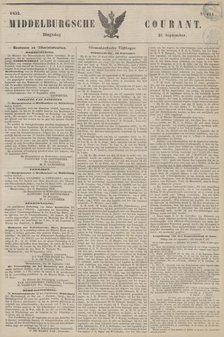 Middelburgsche Courant 1852-09-21