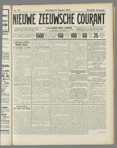 Nieuwe Zeeuwsche Courant 1916-01-29