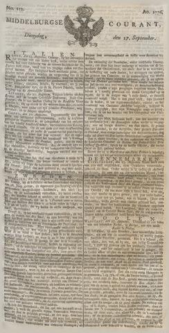 Middelburgsche Courant 1776-09-17