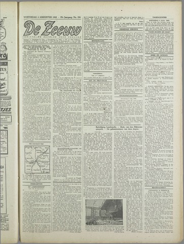 De Zeeuw. Christelijk-historisch nieuwsblad voor Zeeland 1943-08-04