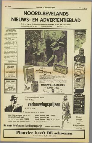 Noord-Bevelands Nieuws- en advertentieblad 1959-12-19