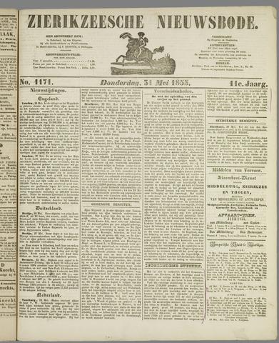 Zierikzeesche Nieuwsbode 1855-05-31