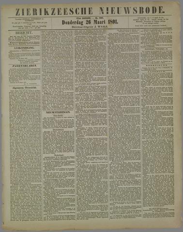 Zierikzeesche Nieuwsbode 1891-03-26