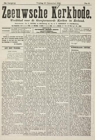 Zeeuwsche kerkbode, weekblad gewijd aan de belangen der gereformeerde kerken/ Zeeuwsch kerkblad 1918-12-20