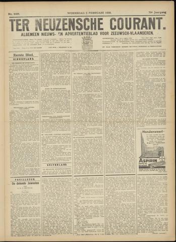 Ter Neuzensche Courant. Algemeen Nieuws- en Advertentieblad voor Zeeuwsch-Vlaanderen / Neuzensche Courant ... (idem) / (Algemeen) nieuws en advertentieblad voor Zeeuwsch-Vlaanderen 1930-02-05