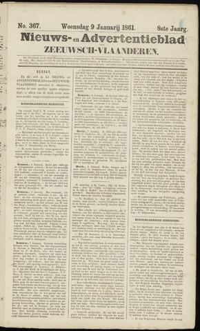 Ter Neuzensche Courant. Algemeen Nieuws- en Advertentieblad voor Zeeuwsch-Vlaanderen / Neuzensche Courant ... (idem) / (Algemeen) nieuws en advertentieblad voor Zeeuwsch-Vlaanderen 1861-01-09