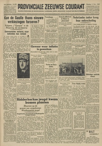 Provinciale Zeeuwse Courant 1948-11-09