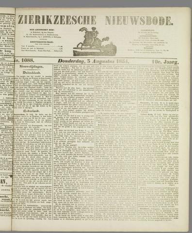 Zierikzeesche Nieuwsbode 1854-08-03